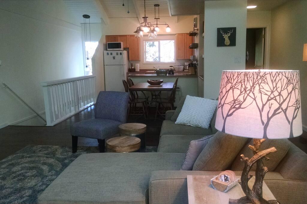 Open Floor Plan- Living Room & Kitchen