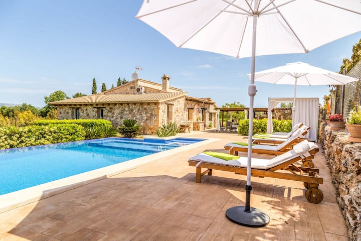 Cozy Mansion in Muro with Private Pool and Jacuzzi