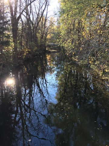 Autumn view at river Dorfen / Herbststimmung am Fluss Dorfen
