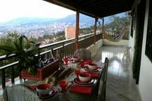 Vista en la tarde; desde el comedor del balcón