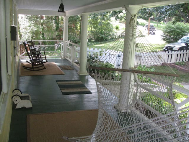 Roomy front porch