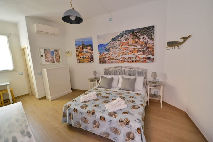New Spacious room in Vernazza's Center!