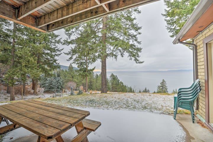 NEW! Private 4BR Home Overlooking Flathead Lake