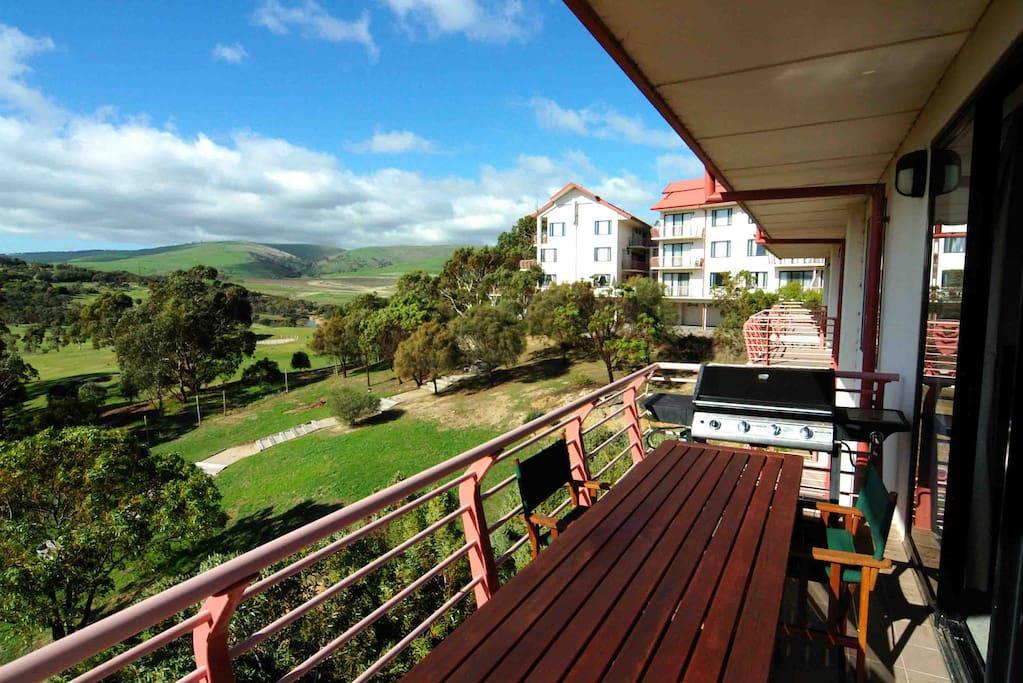 balcony with BBQ facilities