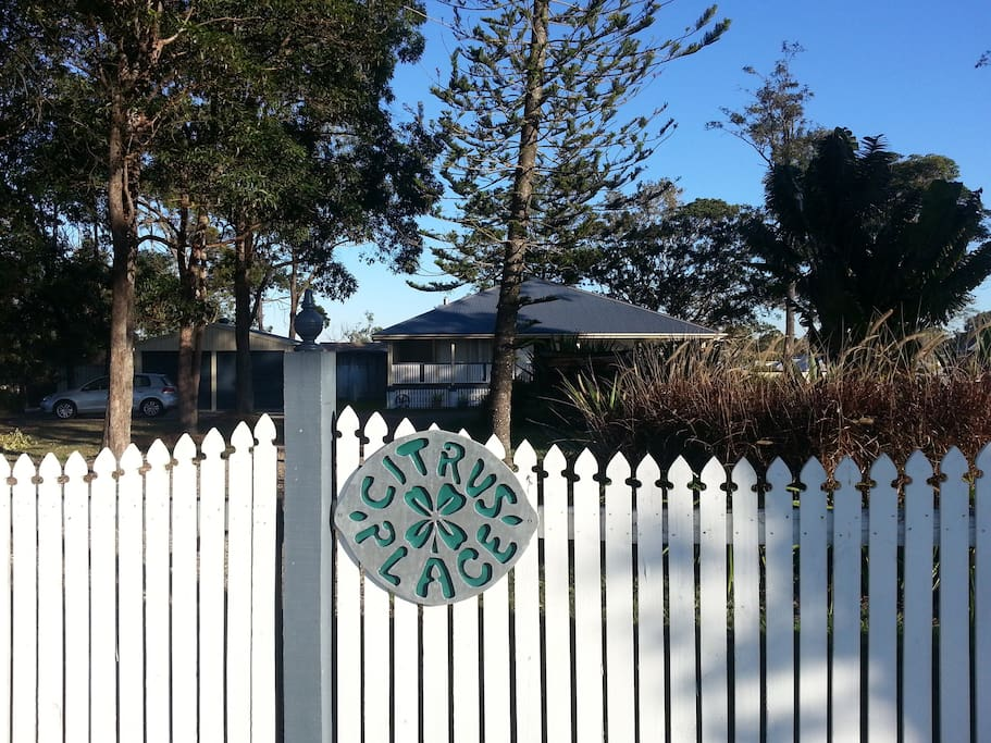Just look for the white picket fence and you have arrived!