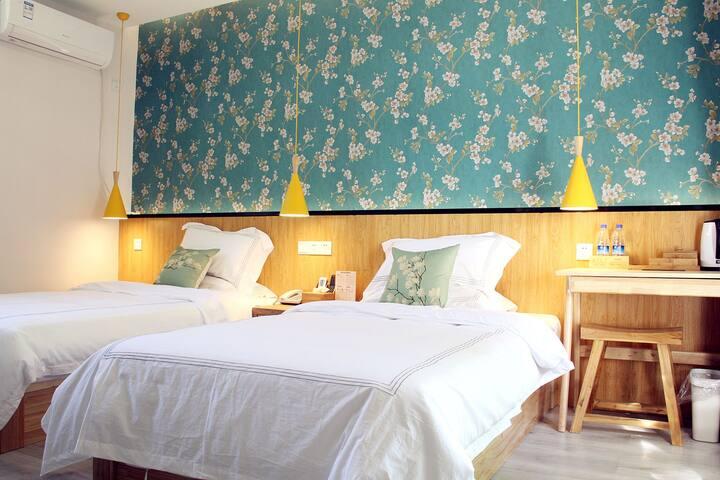 泰山脚下-四合院  柒星院子  清新 温馨特色双床房