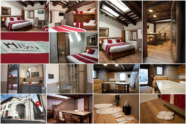 Family room nel centro storico di Oulx - Oulx - Bed & Breakfast