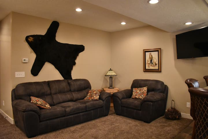 Private family room with TV