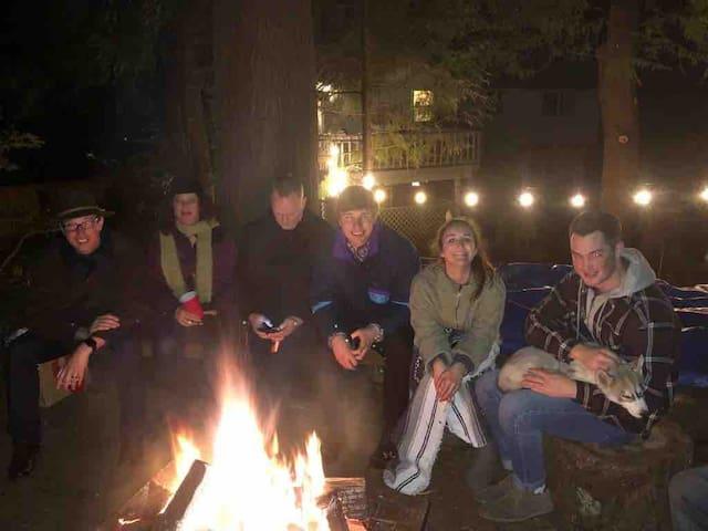 Campsite in backyard near Redondo Beach