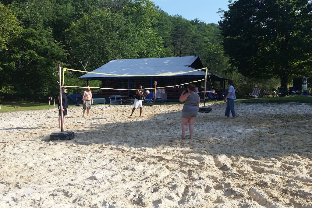 Lake front volleyball