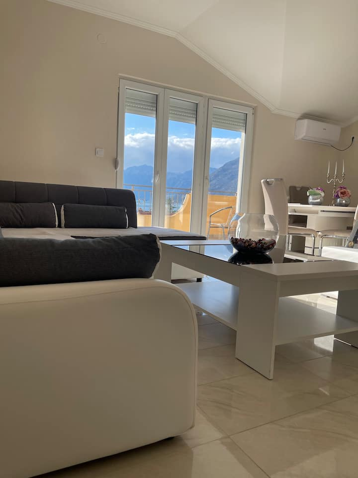 Modern bright apartment close to the sea