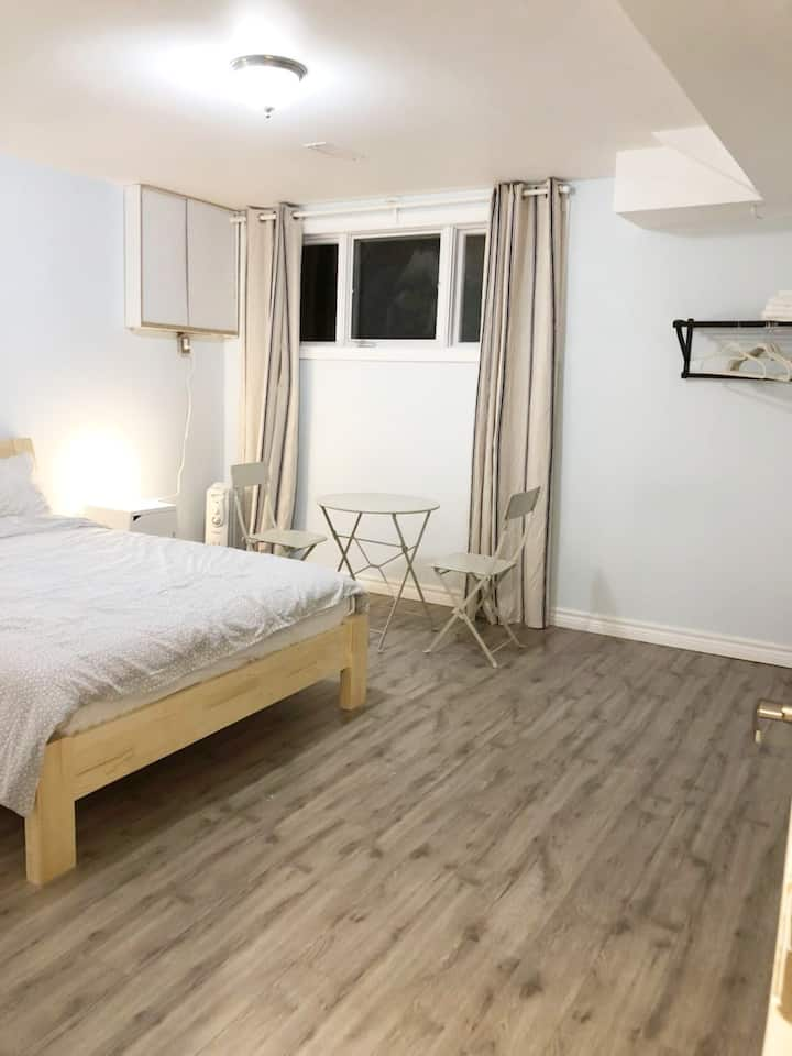 Large New Renovated  Basement private bedroom
