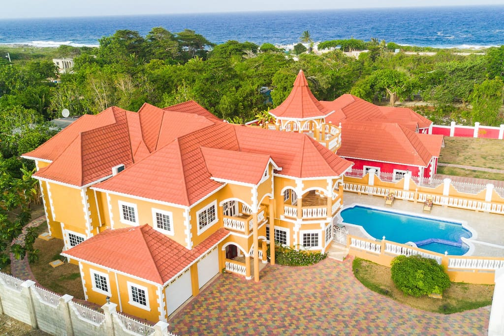 Breathtaking aerial view of the property!