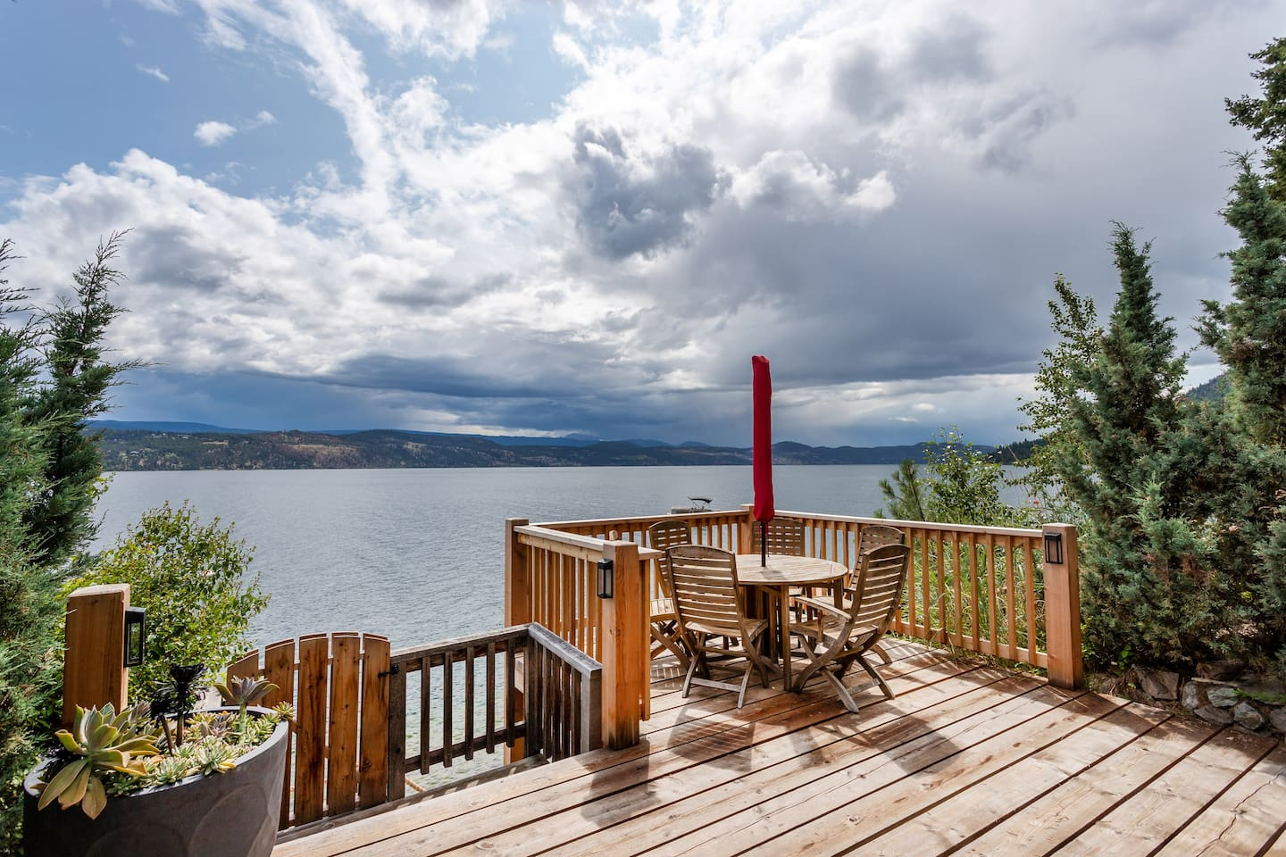Welcome to your Lake Escape! Enjoy your morning coffee or evening cocktail from our lower deck, which leads down a set of stairs to lake access.