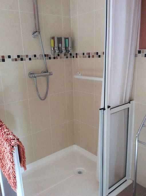 Shower with wheelchair access