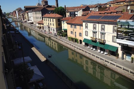 Room located in the main canal of Navigli - Milano