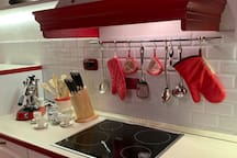 The equipped Kitchen