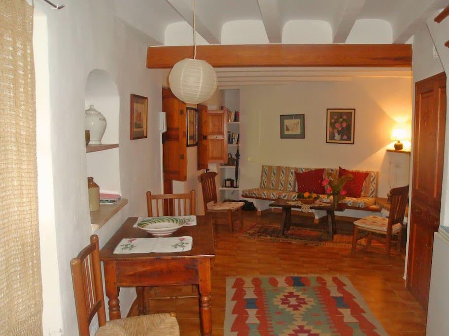 Haus Rose Wohnzimmer mit Kamin