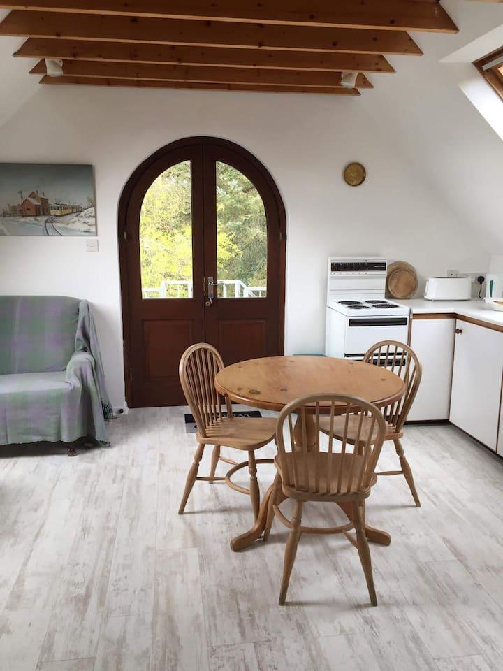 Livingroom and kitchenette