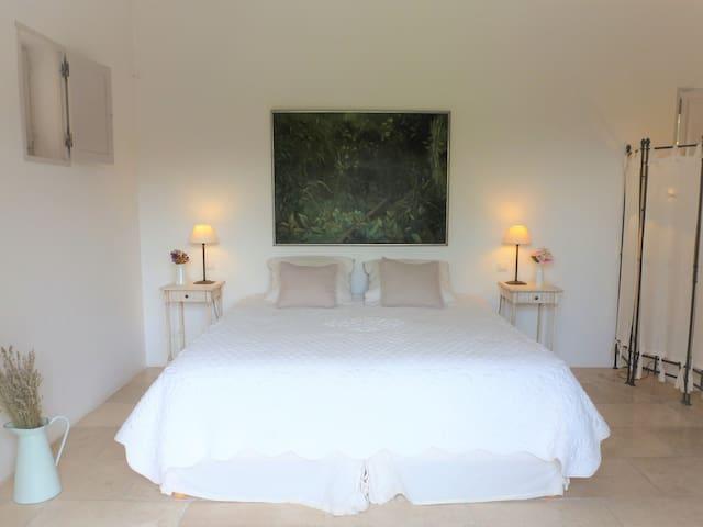 01. Chambre Jade-Doppelbett oder zwei Einzelbetten-Eigenes Badezimmer-Standard-Terrasse