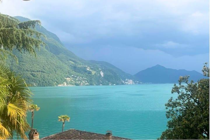 Cozy studio In Lugano lakeshore with stunning view