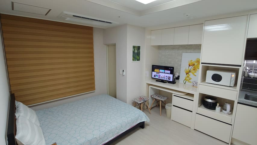 V2.【출장,휴가적합형】CHEONG-JU 시외-고속터미널앞 교통편리,주변 즐길거리풍부한 家