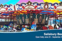 Check out Salisbury's newly restored Carousel - a romantic ride for couples or fun for the kids of all ages ...
