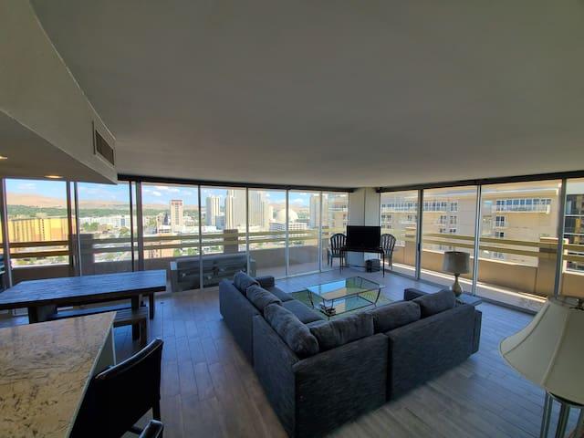Reno: live local in a remodeled 16th floor condo