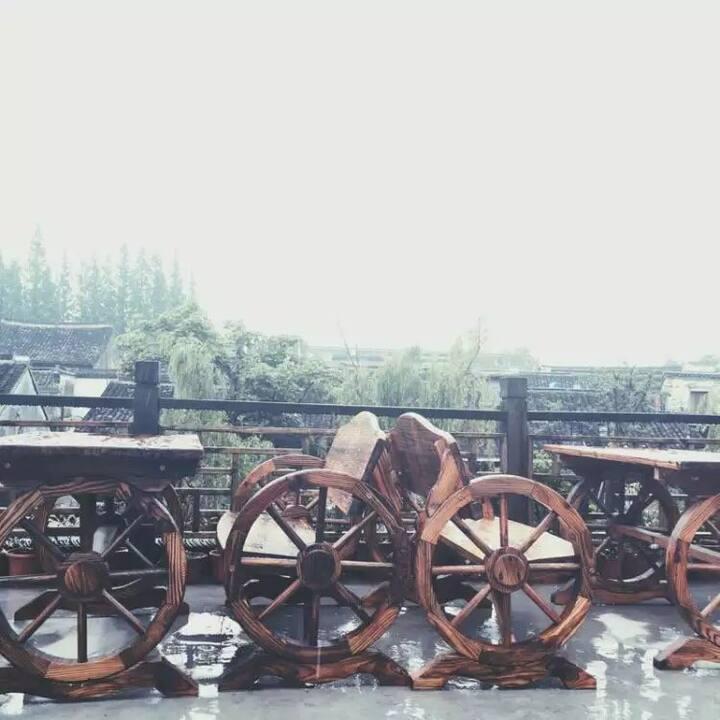 西塘古镇2间大床房+临河公共露台可观景