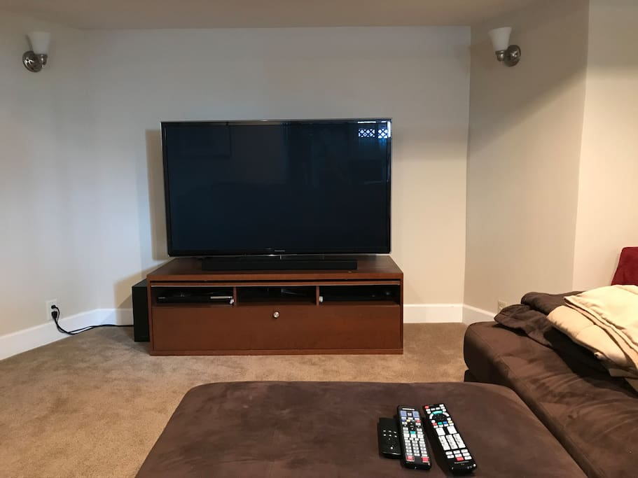 60 inch TV for our guests to use. We do not use this living area when we have guests so it's your private space.