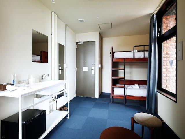 3mins->Suehirocho/Economy Twin room