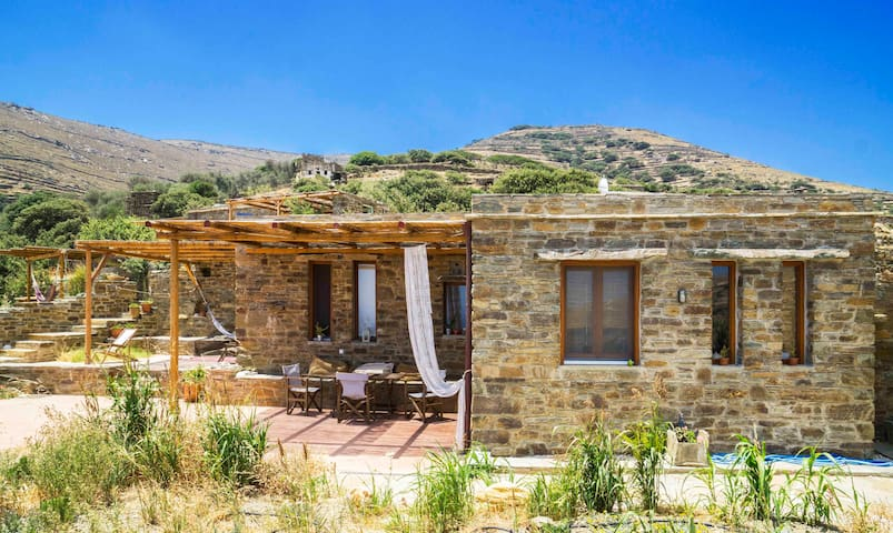 Tinos Ecolodge Big stone house - Potamia, Akeratos, Tinos - Ev