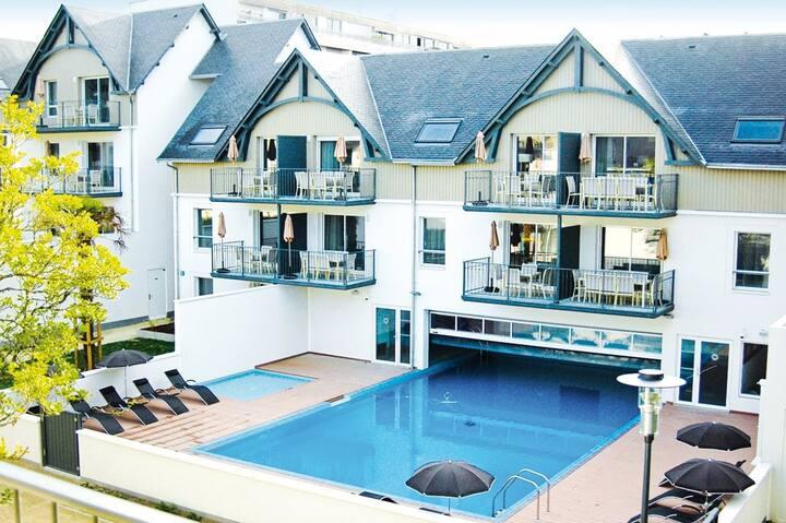 Bel Appartement au calme, à 50m de la plage ! Accès piscine