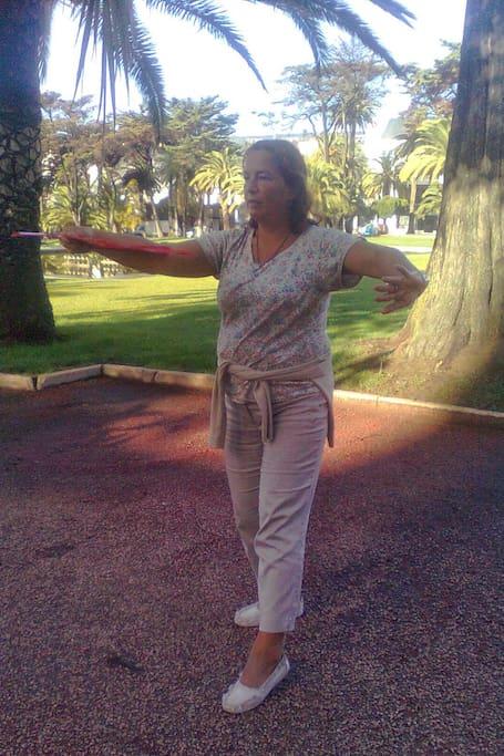 Tai Chi  in the gardens
