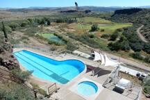 Large pool open seasonally.
