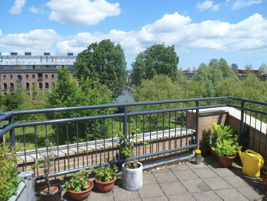 Private loft with roof terrace in the city center for 4 holland terrace needham ma