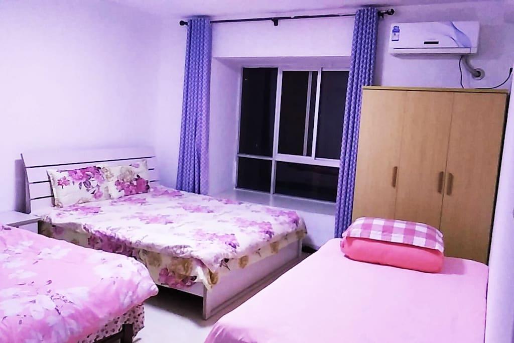 3号房间3张床独立卫浴有空调衣柜