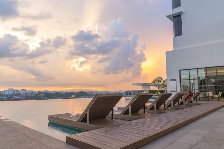 Discounted! - Cosy 3BR Suite in Johor-Bahru