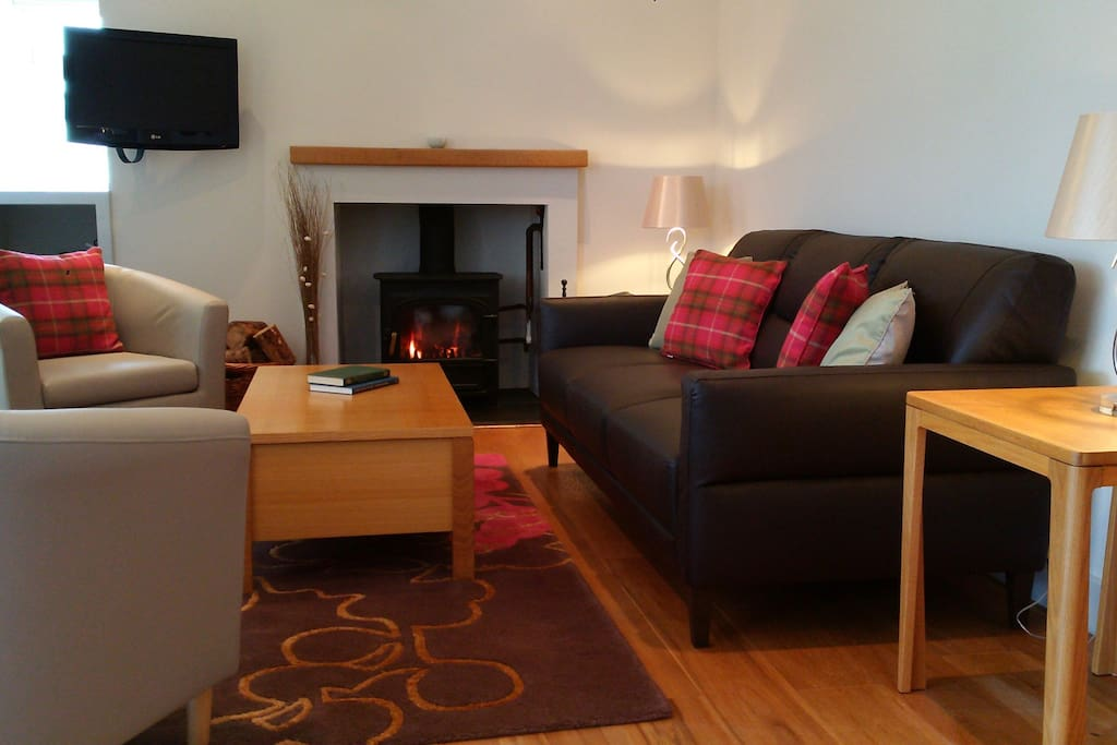 Living Area with Log Burner
