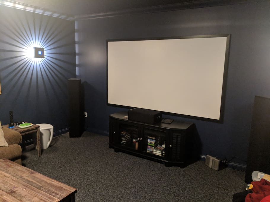 Projection Screen / Theater Room