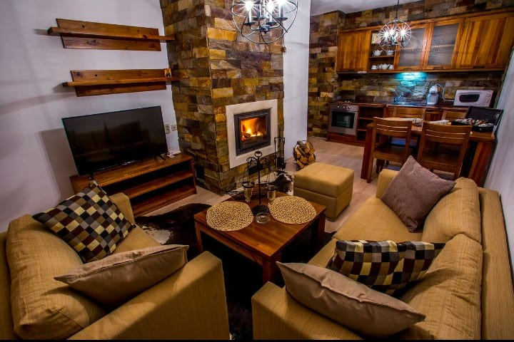 Cozy apartment in the mountain with two bedrooms.