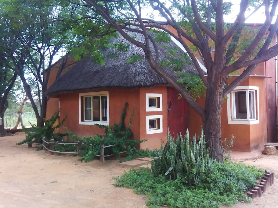 The Kudu cabin. every cabin has a bathroom and seating area