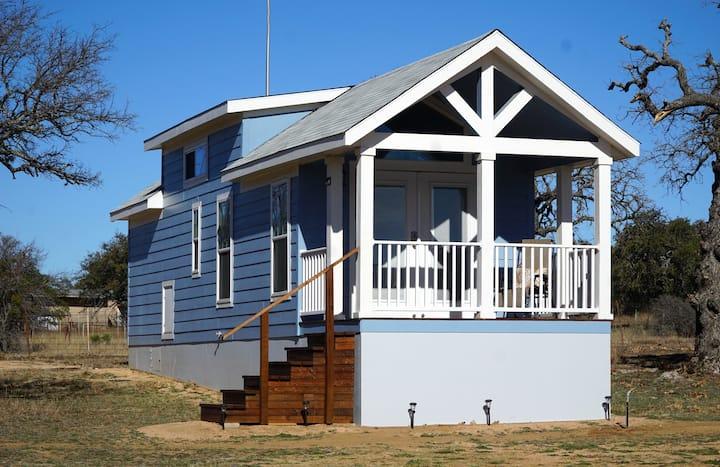 Bluebonnet Tiny Home Rental on Private Lake