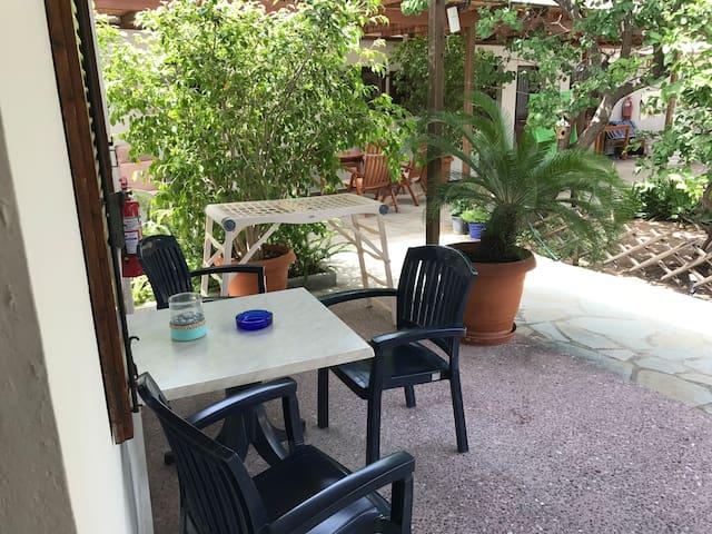 Akti apartment no3 with garden view