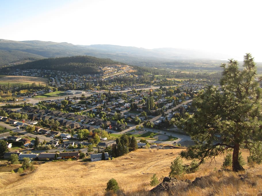 Beautiful view of Kelowna from the 30 minute hike from our house