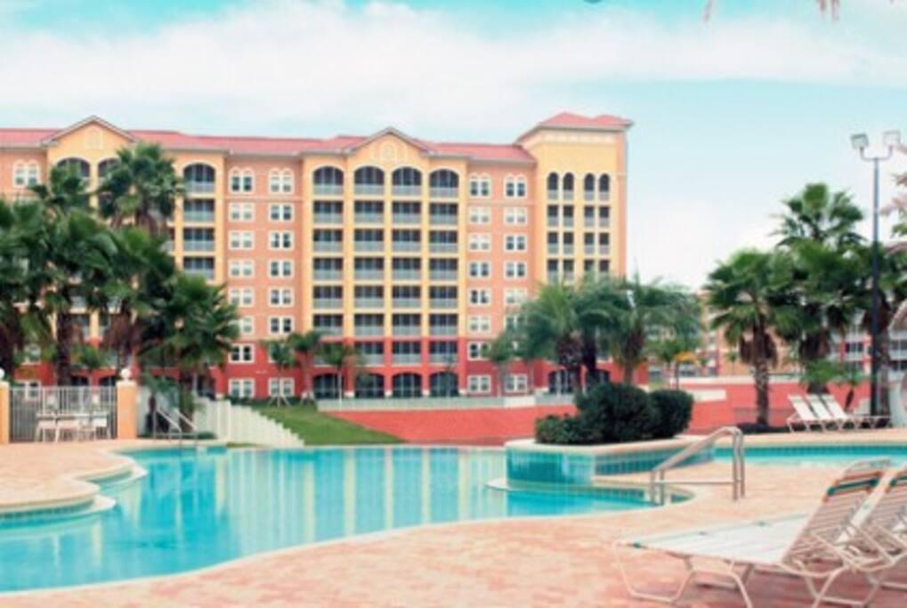 14 heated outdoor pools