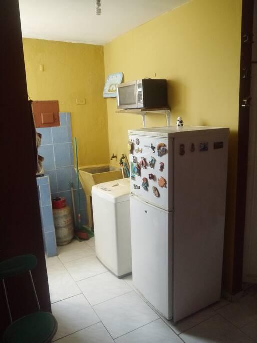 Fridge, Washing Machine, Microwave