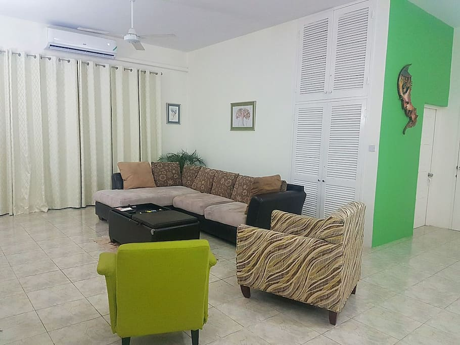 Living room with air con