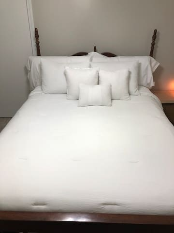Crisp, clean, quiet and fresh bedroom waiting for you.