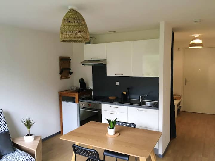 Studio in Ploërmel, with WiFi - 60 km from the beach